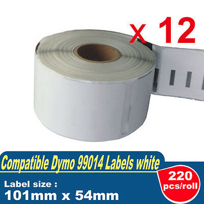 12 ROLLS SD99014 DYMO Compatible Standard Shipping LABELS 101x54mm 99014 SEIKO