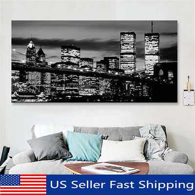 Modern Manhattan New York City Canvas Print Painting Picture Wall Decor Framed