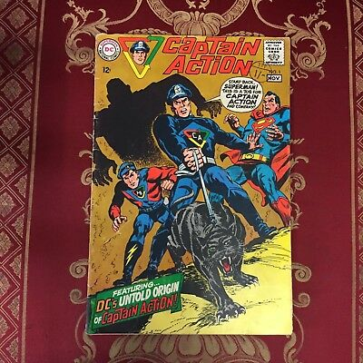 FIRST EDITION Captain Action #1 November 1968 Bagged DC Comic