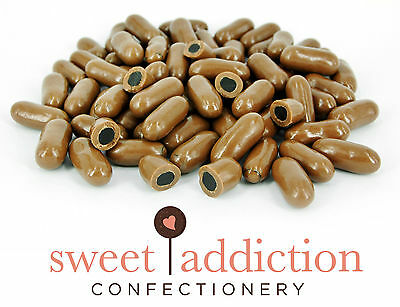 1kg Premium REAL Milk Chocolate Covered Licorice Bullets - Bulk Candy Buffet