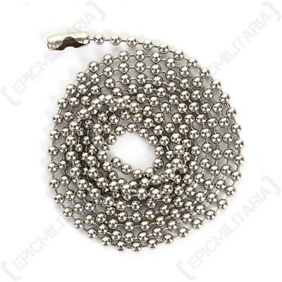 Dog Tag Chain - Titanium Steel 30 inch 76cm Two Connectors Army Military Soldier