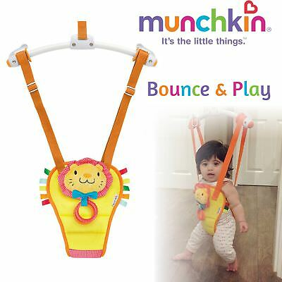 Munchkin Bounce and Play│Door Bouncer Jumper Seat│Adjustable Swing Lion Play Fun