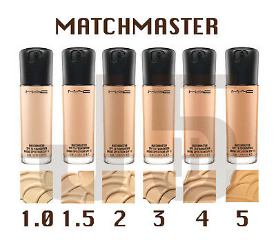 NEW MAC MATCHMASTER SPF 15 Foundation (All Shades). 35ml Full Size BRAND NEW