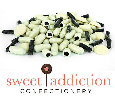 4.5kg Premium REAL White Chocolate Covered Licorice Bullets - Bulk Lolly Buffet