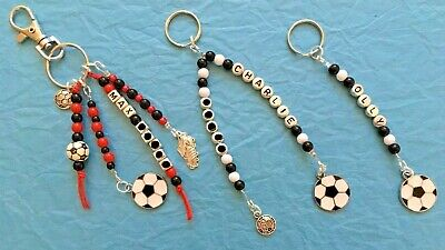 Kids/ Mens Football NAME Tag, keyring, bagtag. Personalised. Any team colours.