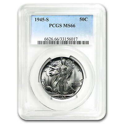 1945-S Walking Liberty Half Dollar MS-66 PCGS - SKU #25697