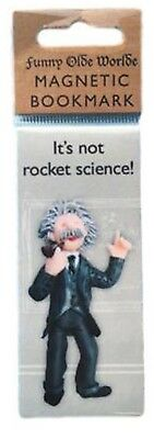 "Einstein ""It's not rocket science"" magnetic bookmark by HOLY MACKEREL Made in UK"