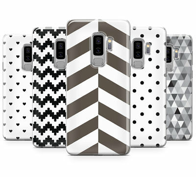 Black & White Pattern Collection Mobile Phone Case Cover For Samsung Galaxy S9