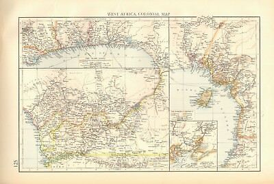 1900 Antique Map- West Africa - Colonial Map, Slave Coast