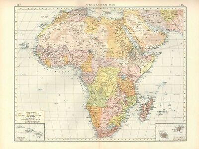 1900 Antique Map- Africa - General Map
