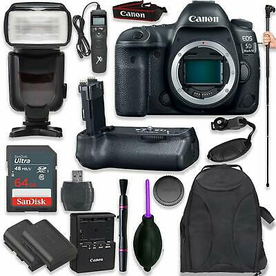 Canon EOS 5D Mark IV Digital SLR Camera Body with Pro Bundle