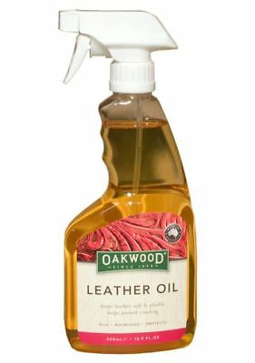 Oakwood Leather Oil spray - For all Leather and Tack - 500ml -BN