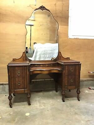 Early 1900's Mahogany vanity - shipping available