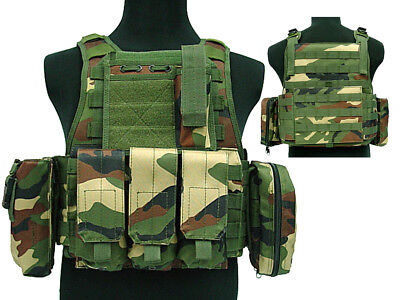 Tactical 027 Molle Combat Vest Magazine Pouch Airsoft Paintball Military WC