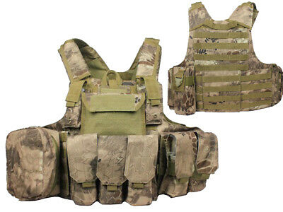 Tactical Military Airsoft Paintball Camo Level 5 Molle Combat Vest BNE Color
