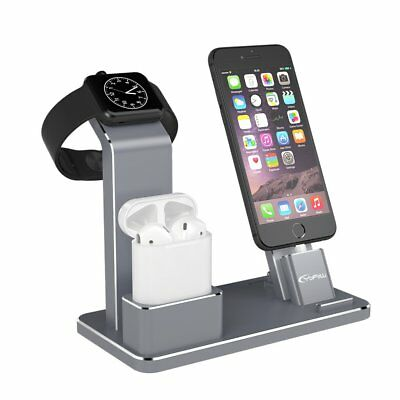 iPhone X/8/7 Plus Charging Dock Station Apple Watch AirPods Stand Holder Charger