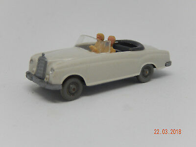 Wiking Mercedes 220 Cabrio - seltene Farbkombination  Anthrazit/Anthrazit !!