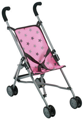 Bayer Chic 2000 Puppenbuggy Roma (Sternchen Grau-Rosa)