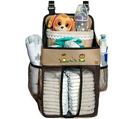 Diaper Caddy and Baby Scissors - 17x9x9 Inch Diapers Holder for Boys and Girls M