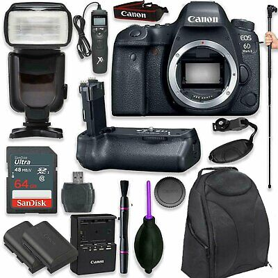 Canon EOS 6D Mark II Digital SLR Camera Body - (16 items)