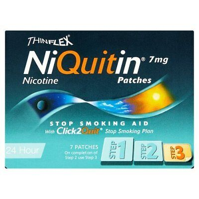 Niquitin CQ Patches 7mg Original - Step 3 - 7 Patches FREE POST