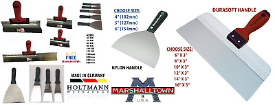 Marshalltown/Holtmann Drywall Jointing/Taping Knife/Putty Spatula ALL SIZE CHOOS