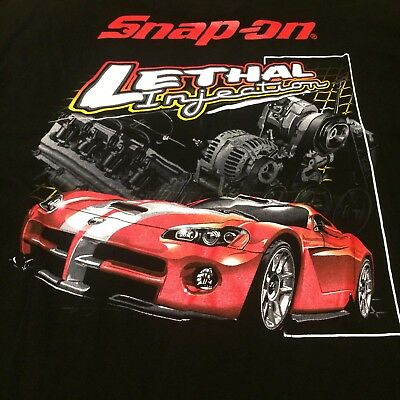 Snap On Tools T Shirt Dodge Viper Lethal Injection 2XL