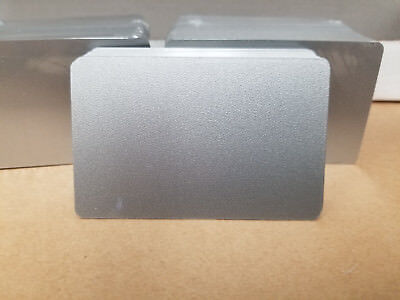 Silver Metallic PVC Cards, CR80.30 Mil, Credit Card Size - USA - Pack of 10