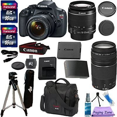 Canon EOS Rebel T5 DSLR CMOS Digital SLR Camera with EF-S 18-55mm + More