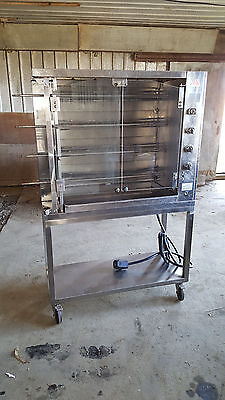 2003 Rotisol France 11DDSM4 Chicken Rotisserie Oven Electric 4 Spit Machine