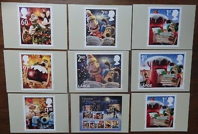 2010 Christmas PHQ card set of 8 Mint No 343 , also 1 extra 1st Class card