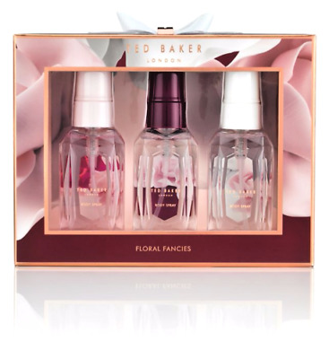 Ted Baker Floral Fancies Mini Body Spray Trio Women's Gift Set Birthday Gift