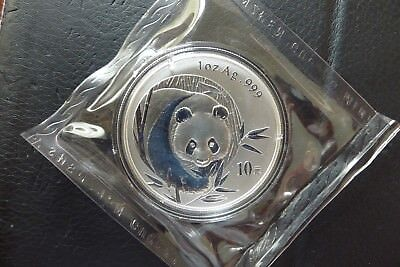 2003 SILVER PANDA -- .999 SILVER 1 oz. BULLION COIN -- DOUBLE SEALED!
