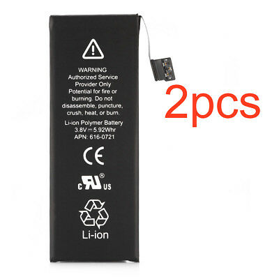 2pcs 1560mAh Li-ion Internal Battery Replacement w/ Flex Cable for iPhone 5S 5C