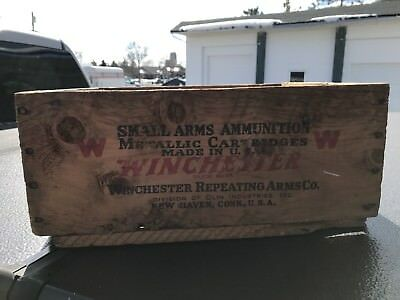 Vintage Winchester 22 Long Rifle Wooden Ammo Box