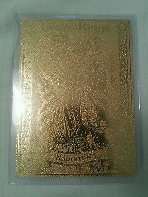 Rare 22Ct Gold Lord Of The Rings Danbury Mint Trading Card Boromir