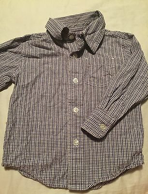 Baby Gap Boys Long Sleeve Button Up Shirt Size 18-24 Months Purple