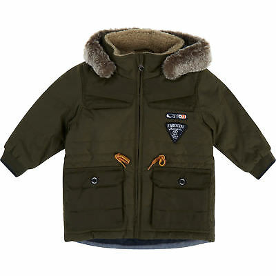 TIMBERLAND Baby Boy's Fantastic Khaki Hooded Parka Jacket / Coat - 1 year / 74cm