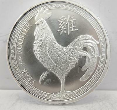 The Year of the ROOSTER,  .999 Silver 1oz Round, Chinese Zodiac  #H29