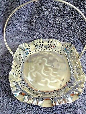Silver Plated Small Candy Basket – Versilbert BMF N – Made in Germany