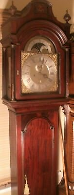"Antique "" Bristol "" Mahogany Brass Moon Dial Longcase / Grandfather Clock"