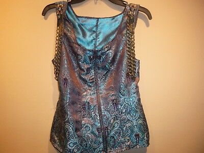 a7a97bdeff0 LADIES TEAL BROWN SHOW vest