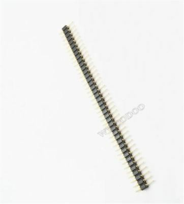 50Pcs Pin Header Single Row 40Pin 2.54MM Round Male Gold Plated Machined py