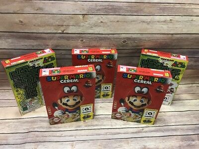 Kellog's SUPER MARIO ODYSSEY CEREAL Limited Edition Nintendo W/Amiibo 5 BOXES