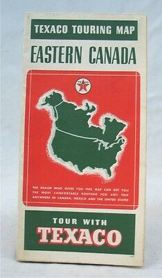 Vintage 1930's Texaco Eastern Canada Touring Map