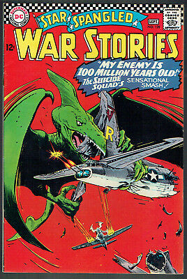 STAR SPANGLED WAR STORIES  128  VF-/7.5  -  Very cool dinosaur cover!