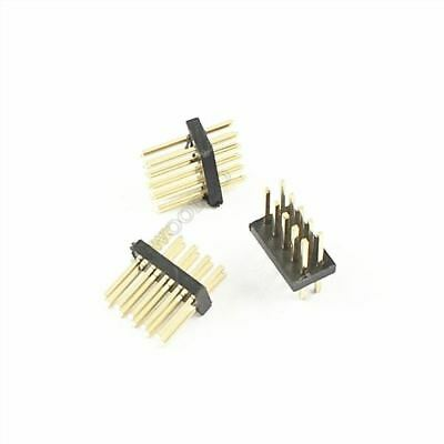 50Pcs Gold Plated 1.27MM Pitch Male 2X5 Pin 10 Pin Straight Pin Header Strip tv