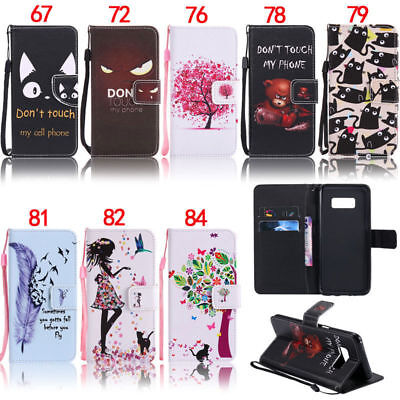Feather Wallet Leather Flip Case Cover For Samsung A5 A3 2017 A30 A50 A40 A70 J3