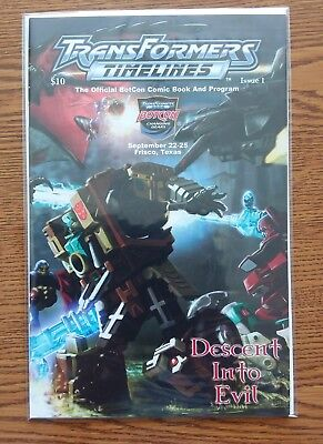 Transformers Botcon 2005 Timelines #1 DESCENT INTO EVIL Comic Collectos Club
