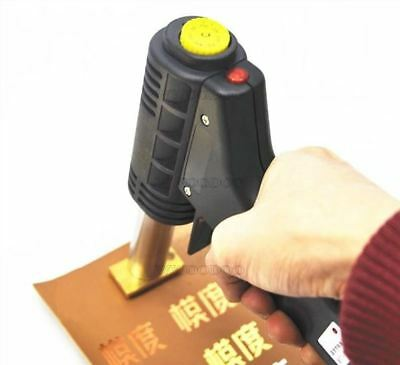 220V Handheld Hot Foil Embossing Stamping Branding Tool For Leather Wood Cake ou